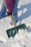 Shoveling Snow Royalty Free Stock Photos