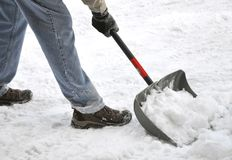 Shoveling snow Stock Photos