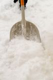 Shoveling Snow Isolated Close-Up Stock Photos