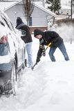 Shoveling snow Royalty Free Stock Photo