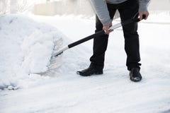 Shoveling snow Royalty Free Stock Photos