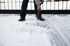 Shoveling snow Stock Photography