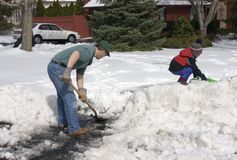Shovelling Stock Images