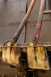 Shovels asphalt tools Stock Image