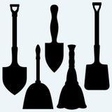 Shovels, broom and dustpan Royalty Free Stock Image