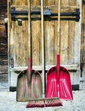 Shovels and broom Royalty Free Stock Image