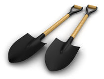 Shovels (clipping path included) Royalty Free Stock Photo