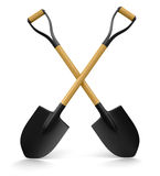 Shovels (clipping path included) Stock Photo