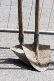 Shovels for construction work Royalty Free Stock Photography