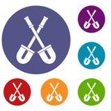 Shovels icons set Stock Photo