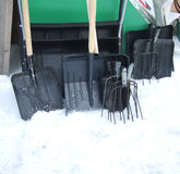 Shovels and pitchforks Stock Images