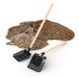 Shovels and sand Stock Photography