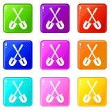 Shovels set 9 Royalty Free Stock Image