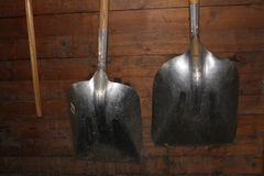 Shovels Stock Photography