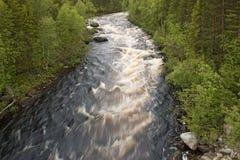 The Shovna river in tundra Stock Photography
