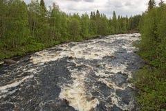 The Shovna river in tundra Stock Photo