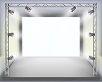 Show. Empty fashion show stage with runway. Vector illustration Stock Photos