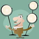 Show. Cartoon illustration of master of ceremonies Stock Photos