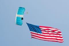 Show aereo americano di eroi - L.A. 2013 Fotografia Stock Libera da Diritti