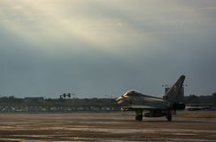 Show aereo internazionale di Bucarest - Eurofighter Typhoon FGR4 Fotografia Stock