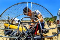 Show aereo internazionale di Paramotor Fotografie Stock Libere da Diritti