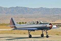 Show aereo termico: Eagle Squadron rosso fotografia stock