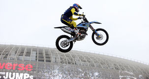 Show announcing world championship in FMX Stock Image