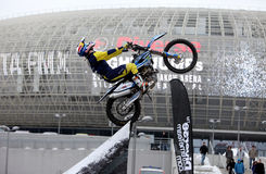 Show announcing world championship in FMX Stock Photography
