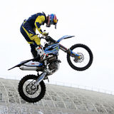 Show announcing world championship in FMX Royalty Free Stock Image