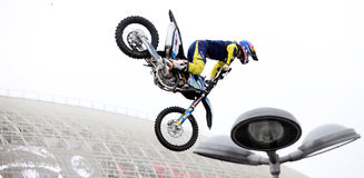 Show announcing world championship in FMX Royalty Free Stock Photos