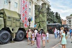 Show av arméutrustning Royaltyfri Foto