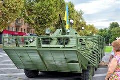 Show av arméutrustning Royaltyfri Fotografi