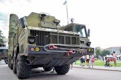 Show av arméutrustning Arkivbild
