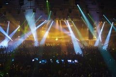 Show av bäst DJ i världen Armin Van Buren Arkivbild