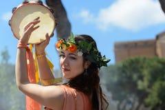 Show av forntida Romans i födelsedagen av det Rome tillfället arkivfoto