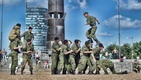 Show av Marine Corps Arkivfoton