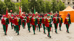 Show Band Les Armourins from Switzerland Stock Images