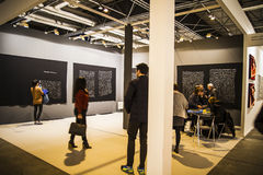 Show.Begin 2014 ARCO, Art Fair contemporaneo internazionale dentro Fotografia Stock Libera da Diritti