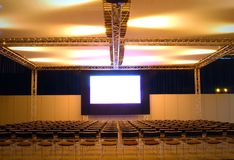 Show on big screen Stock Photography
