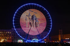 Show on the big wheel of Bellecour Royalty Free Stock Images