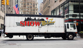 Show Biz trucking. Offers transportation Royalty Free Stock Image