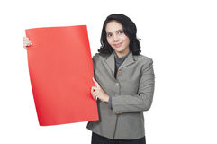 Show Blank Red Paper Royalty Free Stock Photos