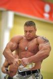 Show bodybuilders athletes Royalty Free Stock Photos