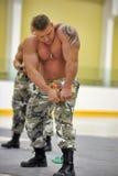 Show bodybuilders athletes Stock Photo
