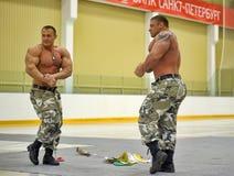 Show bodybuilders athletes Stock Image