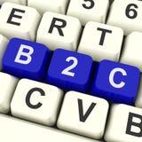 Show business das chaves de B2c à compra ou à venda do consumidor Foto de Stock