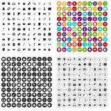 100 show business icons set vector variant. 100 show business icons set vector in 4 variant for any web design isolated on white Stock Images