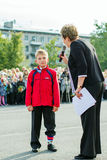 Show at the celebration 1st of september. Saint-Petersburg Stock Photography