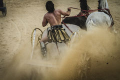 Show, chariot race in a Roman circus, gladiators and slaves figh Royalty Free Stock Images