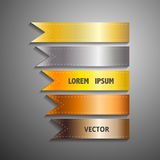 Show colorful ribbon promotional products design, vector Stock Image
